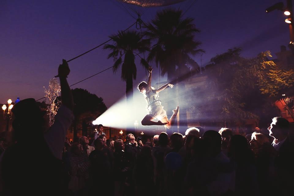aerial circus performance